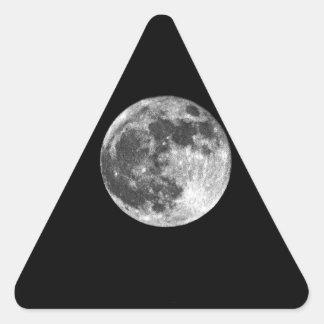 満月 三角形シール
