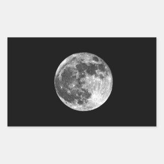 満月 長方形シール