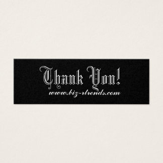満足しますありがとう スキニー名刺