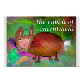 満足[ポスター]のウサギ ポスター