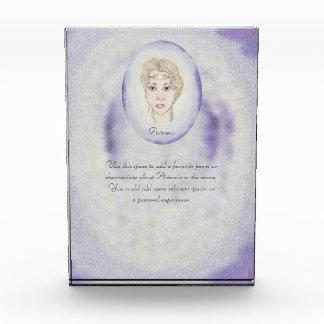 準備ができたArtemisの月の女神/Poem 表彰盾
