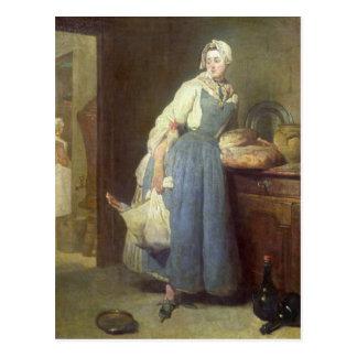 準備を持つ台所女中、1739年 ポストカード