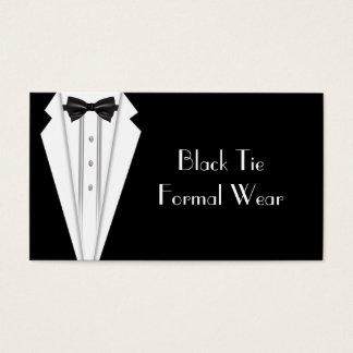 準正装のフォーマルで白いタキシードビジネス 名刺