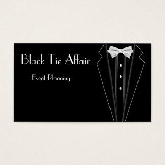 準正装のフォーマルなタキシードのイベントの計画 名刺