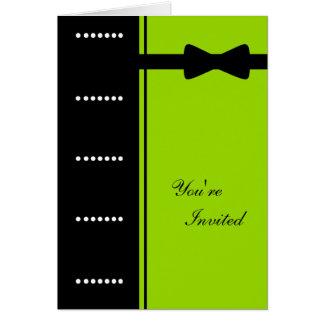 準正装の招待状(ライムグリーン) カード