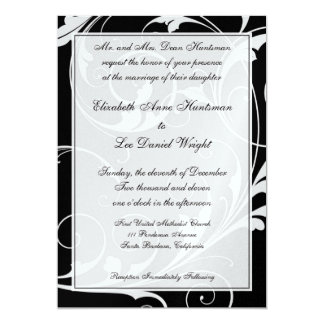 準正装の結婚式招待状 カード