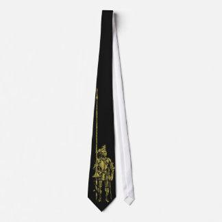 準正装の装甲金ゴールドの騎士 ネクタイ