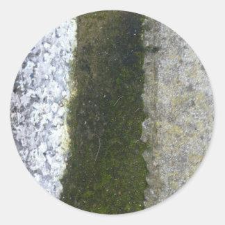 溝の屑 -- 具体的な溝が付いている粘着物 ラウンドシール