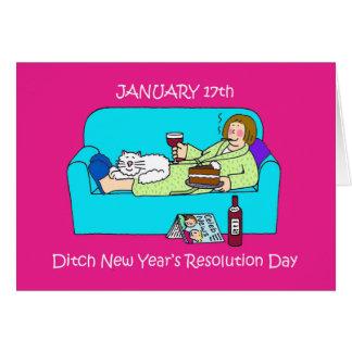 溝の新年の決断日 カード
