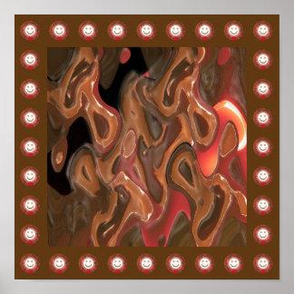 溶かされたワックスの抽象美術:  千のスマイルのボーダー ポスター