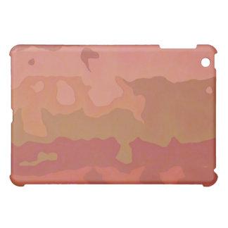 溶かされた口紅-バラ色ベージュ色抽象芸術 iPad MINIケース