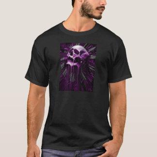 溶かされた紫色のスカル Tシャツ