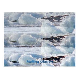 溶けつつある氷河の地球温暖化の人造災害 ポストカード