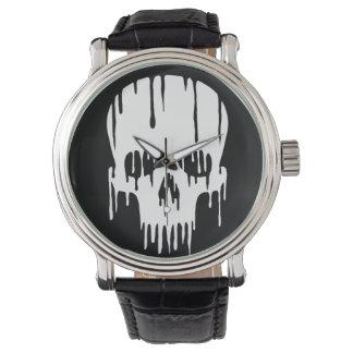 溶けるスカル 腕時計