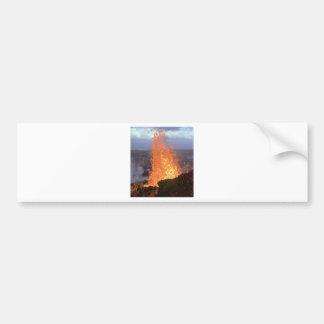 溶岩の火山送風 バンパーステッカー