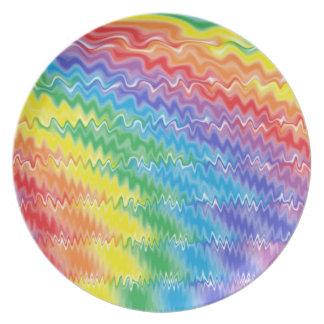 溶岩の虹のプレート プレート