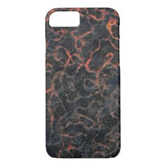 溶岩の質パターンの熱い火山灰の赤線 iPhone 8/7ケース