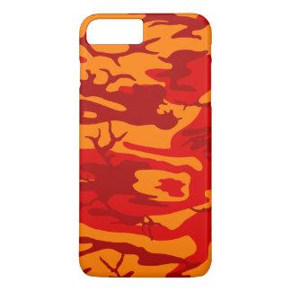 溶岩の赤の迷彩柄 iPhone 7 PLUSケース