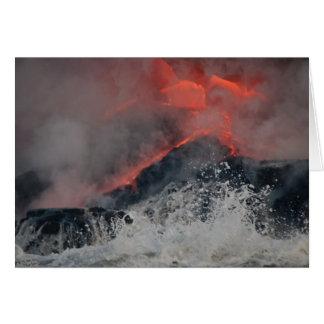 溶岩は海にこぼれます カード