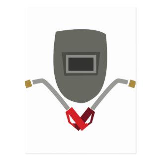 溶接のマスク及びトーチ ポストカード