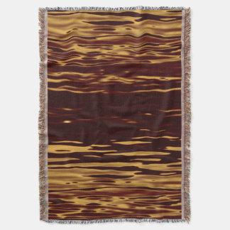 溶解した金ゴールドの波紋 スローブランケット