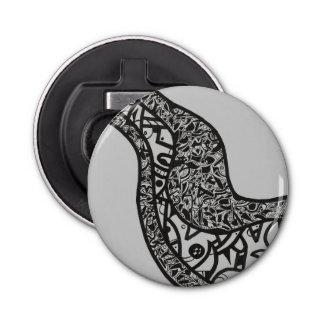 滑らかなインクデザインの円形のオープナ 栓抜き