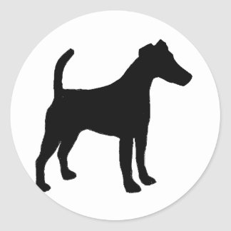 滑らかなフォックステリア犬のサイロblack.png ラウンドシール