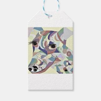 滑らかなフォックステリア犬のデニム色 ギフトタグ