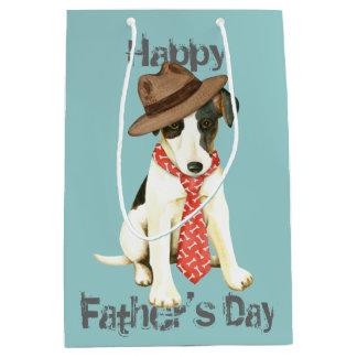 滑らかなフォックステリア犬のパパ ミディアムペーパーバッグ