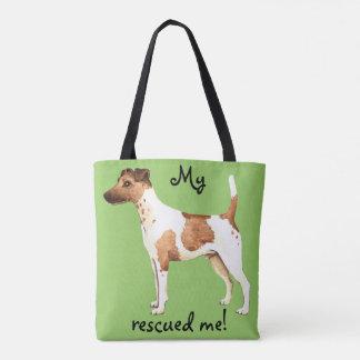滑らかなフォックステリア犬の救助 トートバッグ