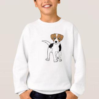 滑らかなフォックステリア犬の漫画 スウェットシャツ