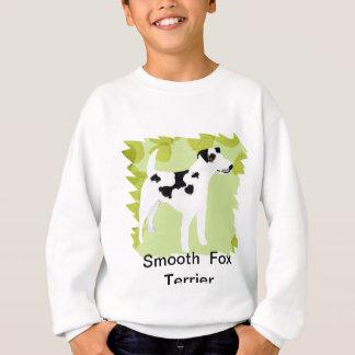滑らかなフォックステリア犬の~の緑の葉のデザイン スウェットシャツ
