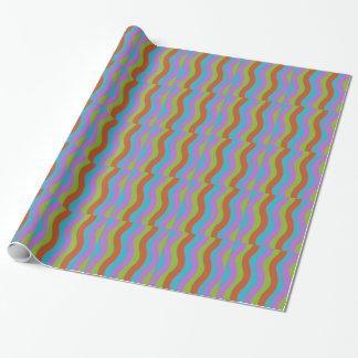 滑らかな波は縞で飾ります ラッピングペーパー