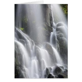 滑らかな滝 カード