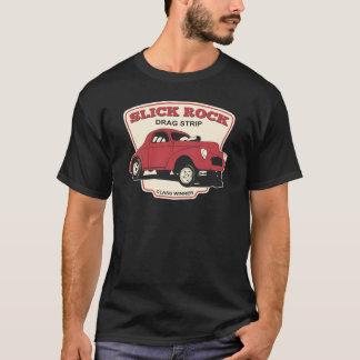 滑らかな石のドラッグのストリップ Tシャツ