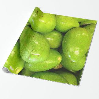 滑らかな緑のアボカド 包装紙