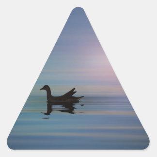 滑らかなGallinule 三角形シール