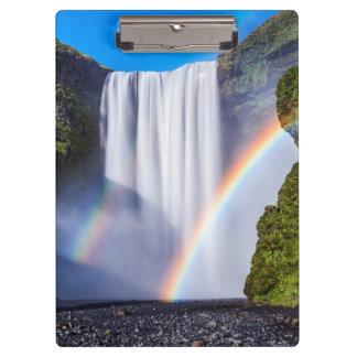 滝および虹 クリップボード