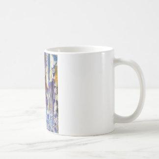 滝および角氷 コーヒーマグカップ