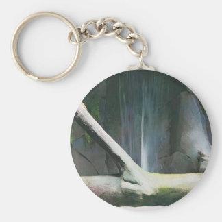 滝による柔らかい色の流木 キーホルダー