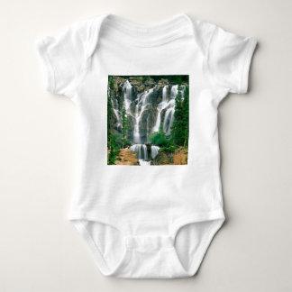 滝のもつれの碧玉公園カナダ ベビーボディスーツ