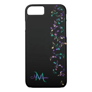 滝のように落ちる音楽はモノグラムのiPhone 7の場合に注意します iPhone 8/7ケース