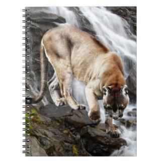 滝のオオヤマネコ ノートブック