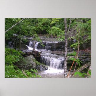 滝のキャンバスのプリント ポスター