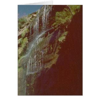 滝の写真カード グリーティングカード