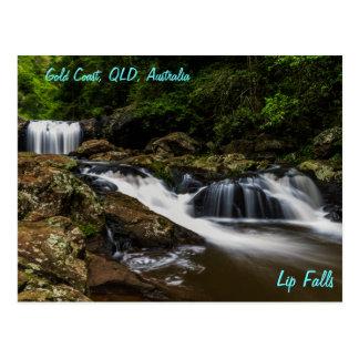 滝の唇の滝ゴールド・コーストオーストラリア ポストカード