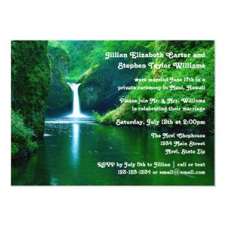滝の景色の写真-結婚式の発表 カード