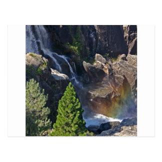 滝の流れの虹の滝 ポストカード