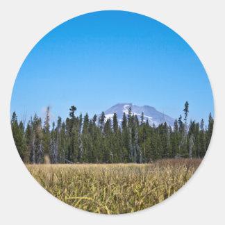 滝の湿地帯及びMtの独身、オレゴン ラウンドシール