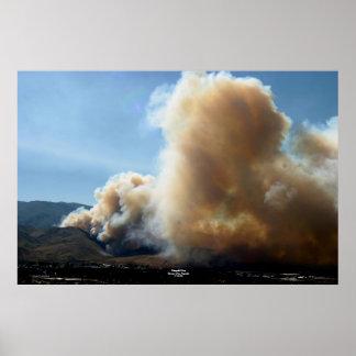 滝の火、カーソンシティー、ネバダ7/14/04 ポスター